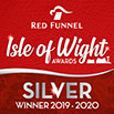 Red Funnel Isle of Wight Awards Silver Winner 2019-2020