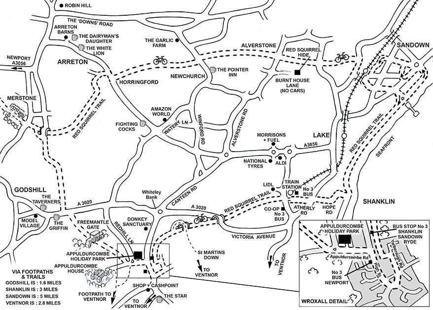 Appuldurcombe Gardens Location Map