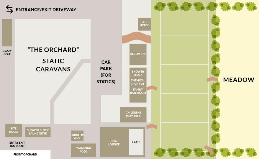 Appuldurcombe Gardens IOW Holiday Park Site Map Plan